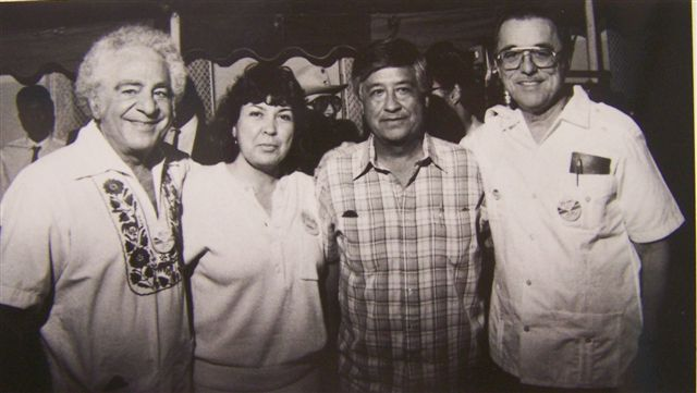 UFW leader Cesar Chavez with Center for Employment Training leadership